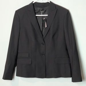 Ann Taylor petites Black blazer jacket virgin wool